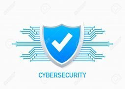 120609663 cyber security vector logo with shield and check mark security shield concept internet security vect1